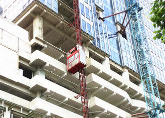 100m Single Cage Construction Hoist Elevator , Steel Galvanized Material safty easy accessibility